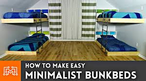 Easy <b>Double</b> Bunk <b>Beds</b> // Woodworking How To - YouTube