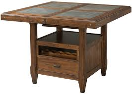 expandable dining table ka ta: intercon wolf creek gathering height dining table with storage and butterfly leaf