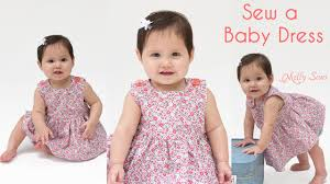 How to Sew a <b>Baby Dress</b> - Free Pattern - YouTube