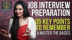 job interview preparation key points to remember job job interview preparation 5 key points to remember job interview skills questions answers
