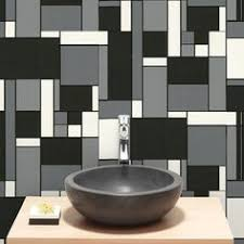 paint striped wallpaper retro style claw graham amp brown geo black white a retro quotmondrianquot style tile