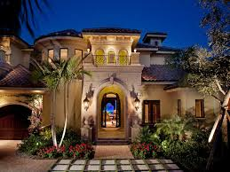 Mediterranean House Plans Home Design Ideas  Pictures  Remodel and    Inspiration for a mediterranean stone exterior in Miami