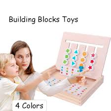 <b>Montessori Education Wooden</b> Toys Four Color Matching Game ...