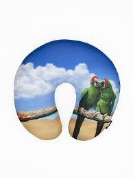 <b>Подушка</b> антистресс для шеи, серия <b>Animal</b>, дизайн <b>Green</b> parrot ...