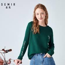 SEMIR <b>Loose outer</b> wear sweater women head round neck drop ...