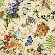 <b>Салфетки для декупажа Paper</b>+<b>Design</b> Летние бабочки, 33x33см ...