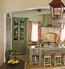 French Country Kitchen Very Small French Country Kitchen With Marble Top Island And