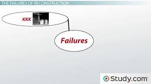 american history since tutoring solution course online reconstruction period goals success and failures