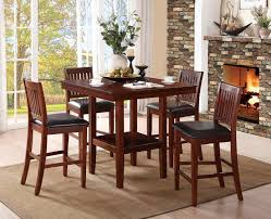 cherry counter height piece: homelegance galena  piece pack counter height dining set warm cherry