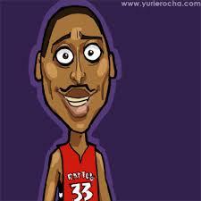 Caricatura NBA de Jamario Moon por Yurie Rocha Jamario Moon - JamarioMoon01_YurieRocha
