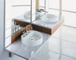 ideas bathroom sinks designer kohler: chrome kohler bathroom faucets above double sink wall mounted bathroom vanity