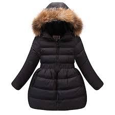 LSERVER <b>Girls</b> Down Jacket Winter Dress Coat <b>New Kids White</b>