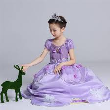 Online Shop Christmas Girls Princess Sofia Dress <b>Floor Length</b> ...
