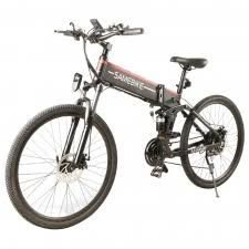 "<b>Samebike LO26</b> Folding Electric <b>Moped Bike</b> 26""500W - Black"