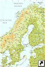 карты : <b>Карта автодорог Скандинавии</b> (англ.) : превью | Швеция ...