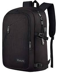 <b>Anti Theft Business Laptop</b> Backpack with USB Charging Port Fits ...