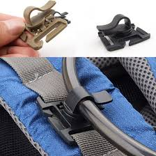 EDC <b>Drink Tube Clip Gear</b> Water Pipe Hose Clamp Backpack Molle ...