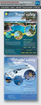 marketing flyers tourism marketing and travel tourism  graphicriver world travel tourism marketing flyer template 6913942