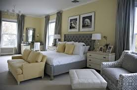 yellow and gray bedroom:  beach style bedroom in yellow with a splash of gray design libby langdon