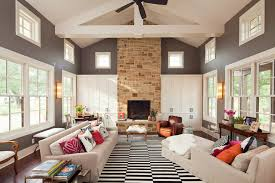 black and white area rugs living room contemporary with beams beige armchair beige image by new urban home builders black beige living room