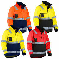 Blaklader Workwear Fleece Jacket <b>Black</b>/<b>Yellow</b> XXL Work Wear