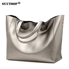 Luxury Women <b>Designer</b> Handbag Silver Portable Bucket Ladies ...