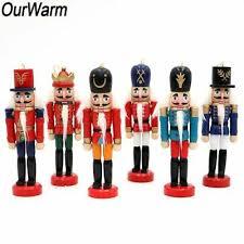 <b>OurWarm 6pcs</b> Wooden Nutcracker Ornaments Soldier Figurines ...