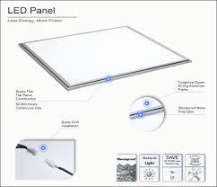36 watt led panel light nlco 2x2 day white light 5000 5500k overhead office lighting