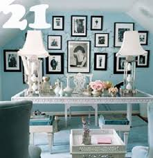 this classic yet romantic home office so charming im not sure if i could actually get work done in here blue home offices