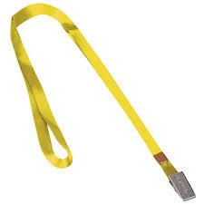 Купить <b>Лента для бейджей</b>, 45 см, металлический клип, желтая ...