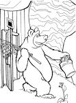 Маша и медведь раскраски бесплатно онлайн