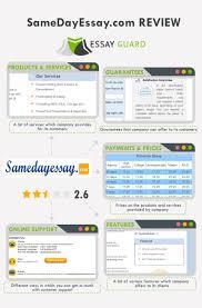 our review on samedayessay com samedayessay review by essayguard com
