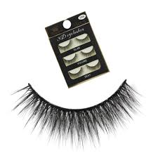 Eyelashes natural fresh <b>nude makeup</b> black stalk multi-level <b>3D</b> ...