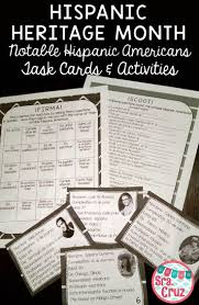 best ideas about hispanic american hispanic hispanic heritage month notable hispanic americans task cards