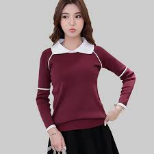 <b>Shintimes</b> Preppy Style Women Sweaters And Pullovers Turn-Down ...