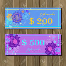 gift certificate discount voucher coupon template winter gift certificate discount voucher coupon template winter snowflakes and stars design