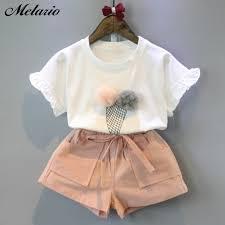 Melario Cotton <b>Girls Clothing Sets</b> Summer Vest Two Piece ...