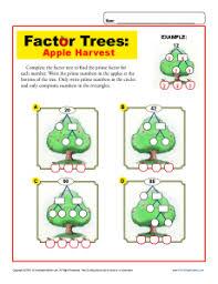 Apple Harvest | Math Factor Tree Worksheets for 4th GradeMath Worksheets