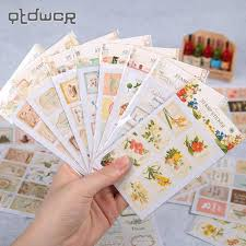 <b>48PCS</b>/lot DIY Kawaii Matchbox Sticker Sticky <b>Creative Vintage</b> ...