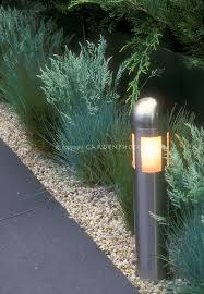 short pole lighting to illuminate garden path in evening amazing garden lighting flower