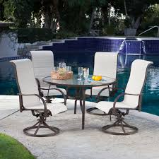 patio dining: belham living crayton all weather wicker patio dining chair and glass table set seats  patio dining sets at hayneedle