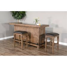 Rustic Brown <b>3 Piece Bar Set</b> - Doe Valley | RC Willey Furniture Store