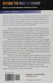 com beyond the muse of memory essays on contemporary com beyond the muse of memory essays on contemporary american poets 9780826210470 laurence lieberman books