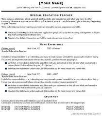 special education teacher resume special education teacher resume we provide as reference to make correct special education teacher sample resume