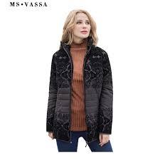 MS VASSA Women Jackets 2019 <b>New Spring Autumn</b> casual coats ...