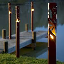 outdoor torch lighting. twig bronze bio ethanol outdoor torch lighting t