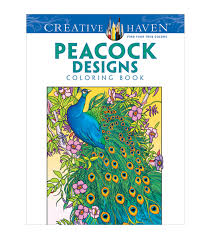 adult coloring books coloring books for adults jo ann adult coloring book creative haven peacock designs