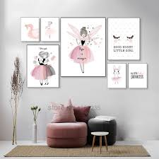 Nordic Poster Baby Girl Unicorn Room <b>Decor Cuadros</b> Decoracion ...