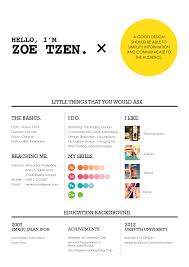 official resume s resume zoe