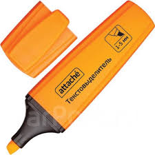 <b>Маркер выделитель</b> текста <b>Attache</b> Palette 1-5мм оранжевый ...